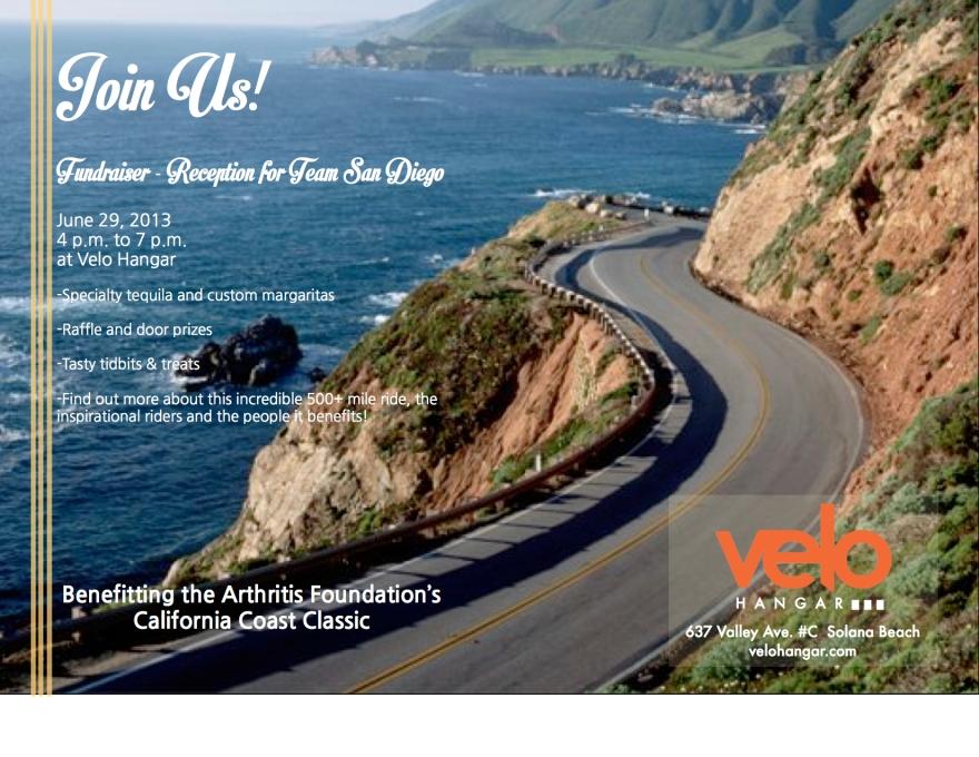 CCC velo hangar 2013 fundraiser flyer